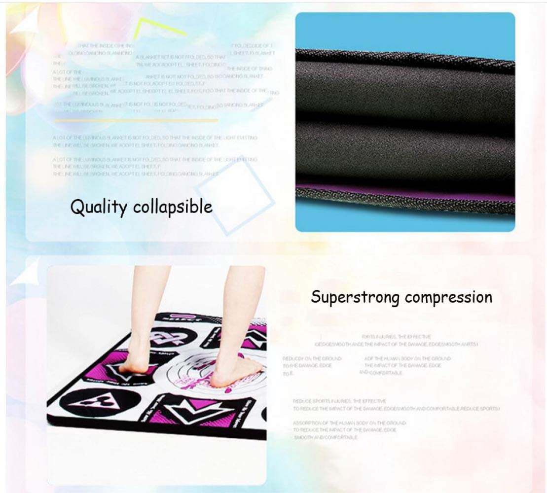 QXMEI Dance Mat Double TV Interface Computer Dual-use Somatosensory Game Console 48.5 cm 34.5 cm 11.5 cm,Color by QXMEI (Image #2)