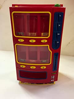 M&M Toy Mini Candy Vending Machine Plastic 2004 Bank M&M, Skittles, Snickers, Milkyway