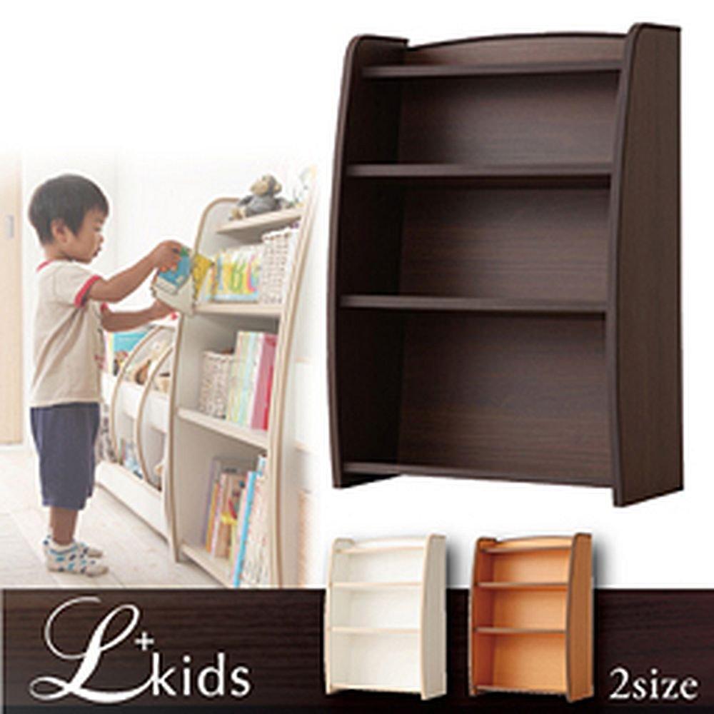ソフト素材 キッズ家具 L'kids(エルキッズ) 本棚 レギュラー ナチュラル+ブラウン B01J9Q4WUE 本棚(レギュラー)|ナチュラル+ブラウン ナチュラル+ブラウン 本棚(レギュラー)