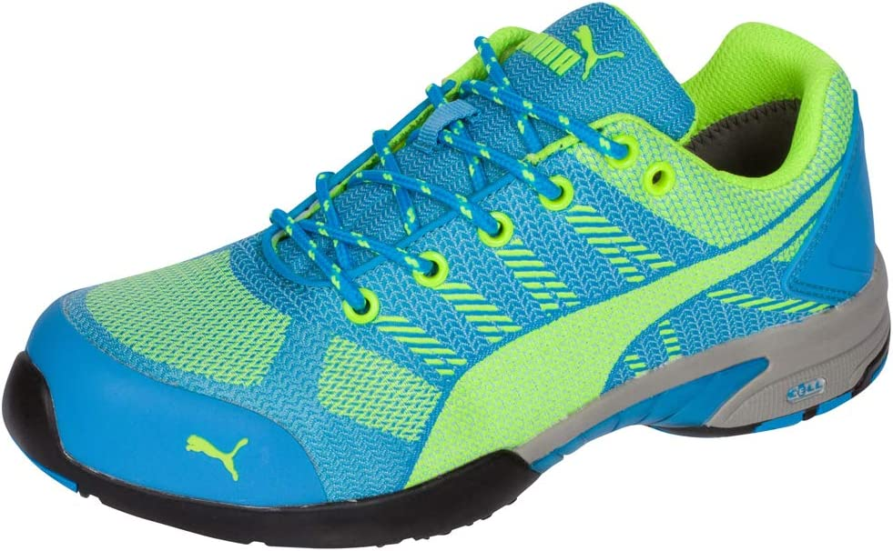 Puma Safety Green/Blue Womens Meshelerity Knit Low AST ST Work Shoes 6