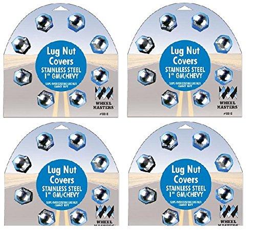 Wheel Masters 8011 1-1/16'' Stainless Steel Lug Nut Cover - Pack of 8 (4) by WheelMaster