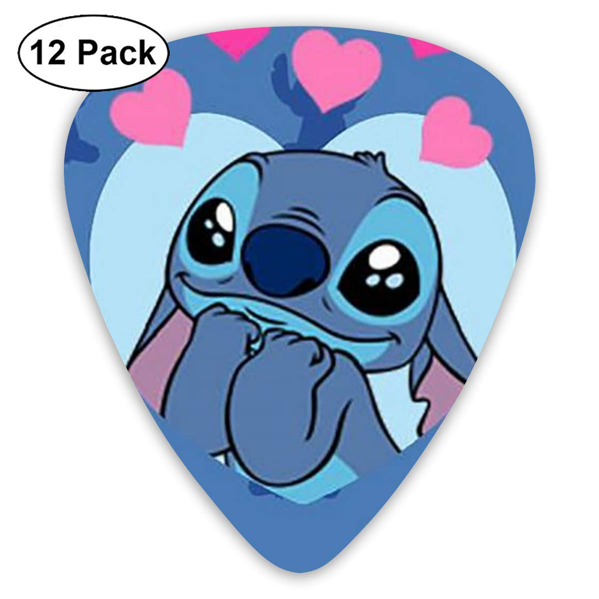 MOANDJI Stitch Fall in Love Guitar Picks, 12 Pack Unique Designs Stylish Colorful Guitar Picks for Bass, Electric and Acoustic Guitars