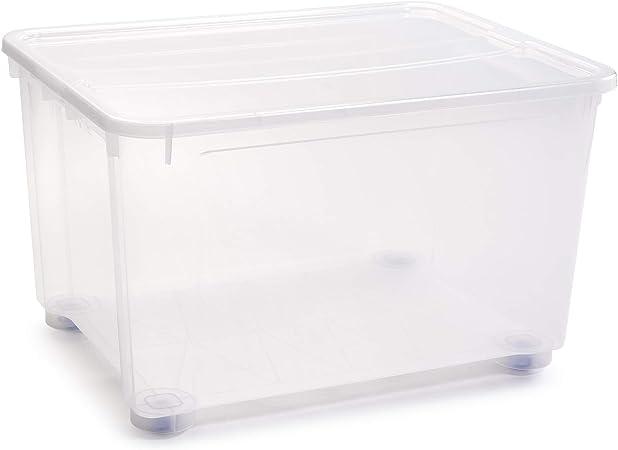 PLASTIC FORTE, Caja de almacenamiento, Multicolor, 150 litros, con ruedas: Amazon.es: Hogar