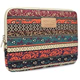 Kinmac New Bohemian Canvas Neoprene Waterproof Laptop Sleeve Case Bag 13 Inch for 13.3 inch laptop and Macbook Air 13 case Macbook Pro 13 Sleeve 13.3 Inch Laptop Bag