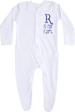 TeddyTs Personalised Digger Baby Sleepsuit