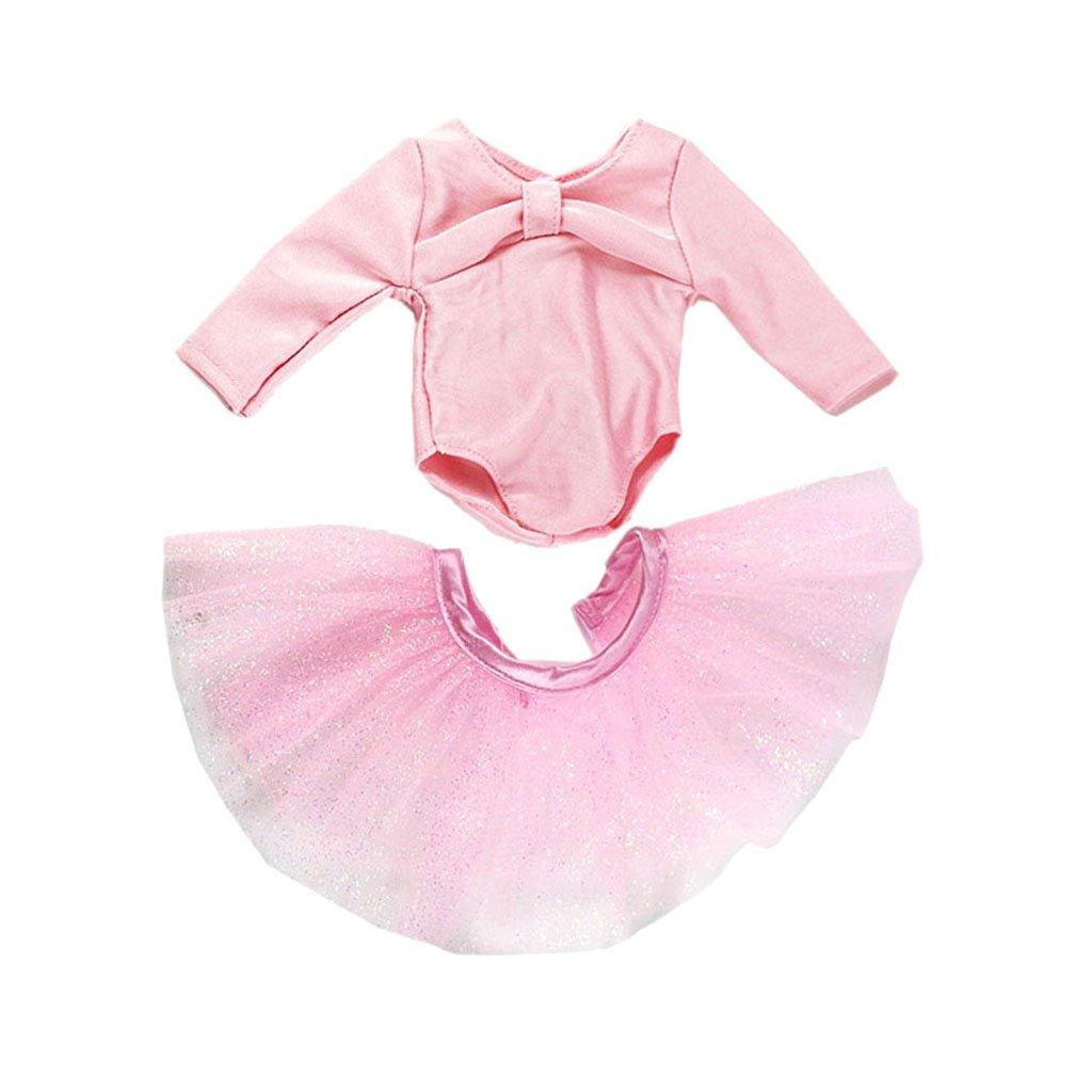 MonkeyJack 18'' Dolls Dance Set Top & Skirt Kit for American Girl My Life Journey Doll