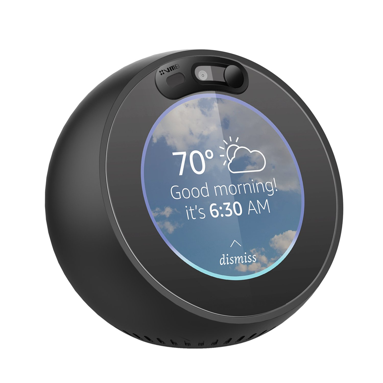 Echo Spot Webcam Cover[2-Pack] -The metal covers can cover Echo Spot's camera then protect the privacy of all users .Very easy to install.Designed By VMEI (Black) by VMEI (Image #1)
