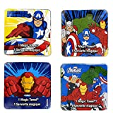 Superhero Magic Towel Washcloths Set of Four