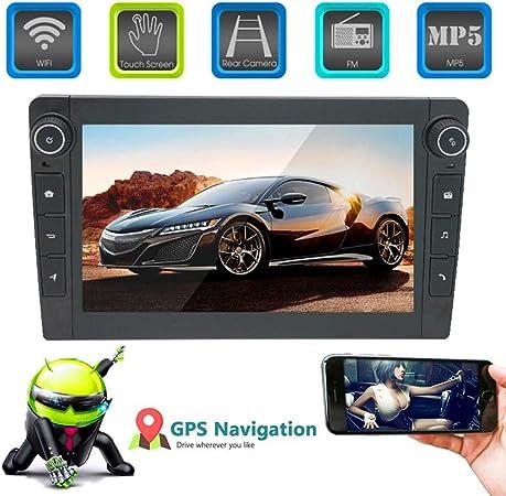 XMZWD 8 Pulgadas Coche Estéreo GPS Navegador Reproductor Multimedia Capacitivo Pantalla Táctil, con HD 1080P/Actualizaciones A Través De WiFi Map Navigation/Steering Wheel Control: Amazon.es: Hogar