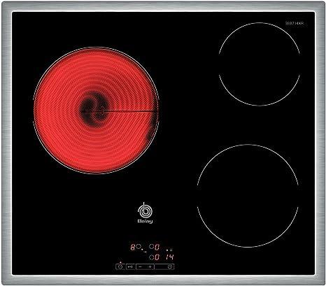 Balay 3EB714XR - Placa de cocina vitrocerámica, marco de acero inoxidable, 3 zonas de cocción, control táctil, color negro, 58,3 x 51,3 x 4,6 cm: 170.38: Amazon.es: Grandes electrodomésticos