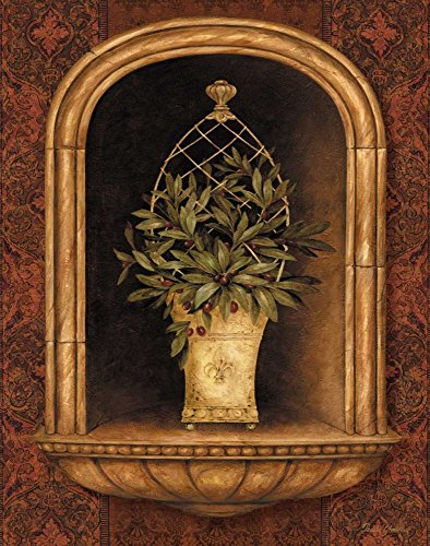 Olive Topiary Niches II by Pamela Gladding 15