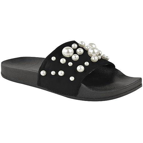 très loué sortie en vente Garantie de satisfaction à 100% Claquettes plates confortables - à perles - spécial été ...