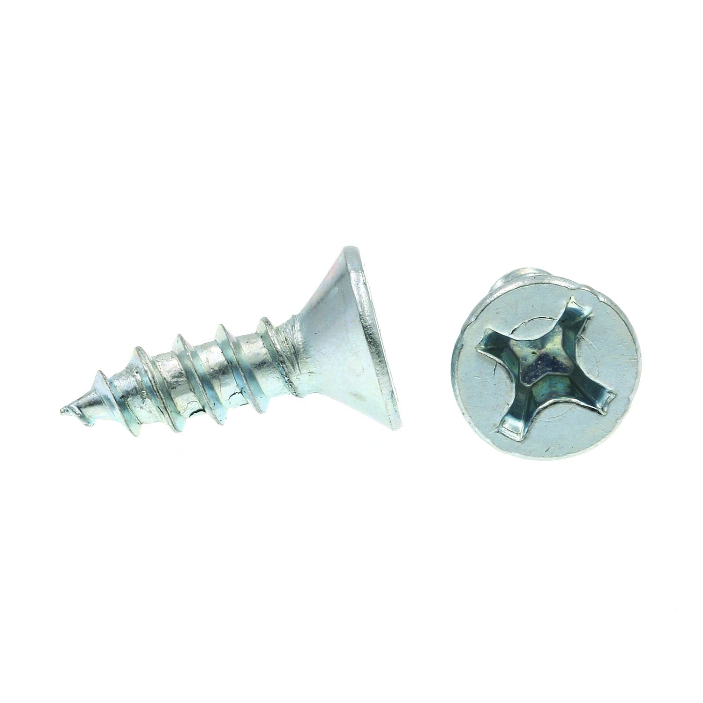 Pack of 100 Flat Head Phillips Zinc Plated Steel Prime-Line 9036061 Wood Screw 12 X 3//4 in