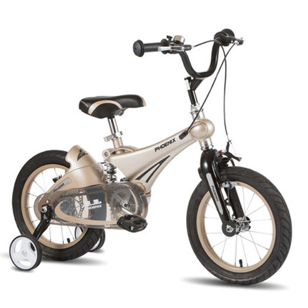 自転車 子供の自転車12/14/16インチの赤ちゃん2自転車3-6歳の子供マグネシウム合金ショックアブソーバーの男の子のキャリッジ (サイズ さいず : 14inch) B07DPMZDZ914inch