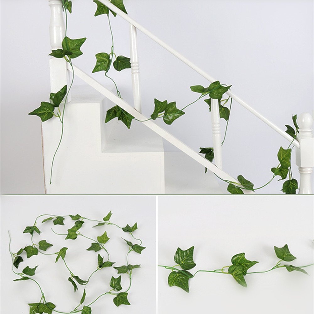 90cm(4pcs) Succi shan 4PCS Home Garden Wall Decoration-Artificial Ivy Leaf Garland Plants Vine Fake Foliage Flowers