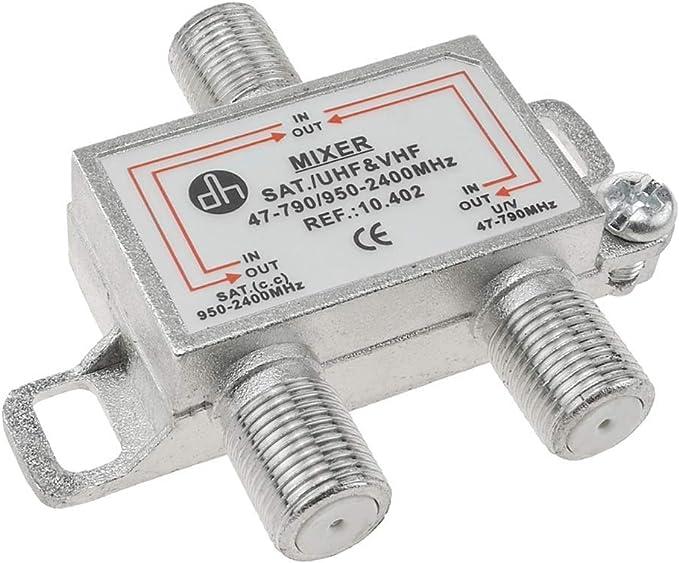 BeMatik - Mezclador y diplexor para TV/SAT con conexión F