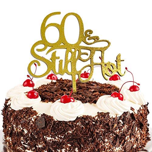 JennyGems 60th Birthday Cake Topper - 60 & Still Hot ()