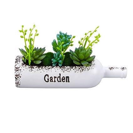 VORCOOL arreglo de plantas artificiales maceta de plantas en maceta multi-viande en maceta en