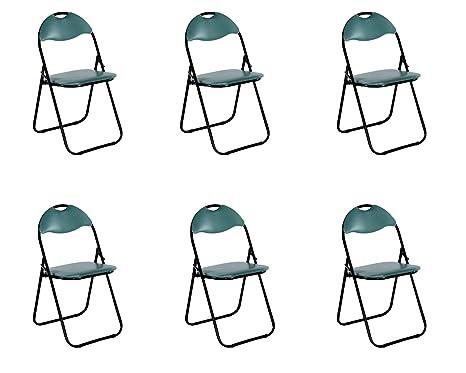 colourliving® - Juego de 6 sillas de jardín Silla Silla ...