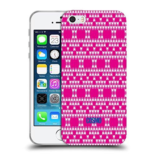 Official Cosmopolitan Hot Pink Boho Patterns Soft Gel Case for Apple iPhone 5 / 5s / SE