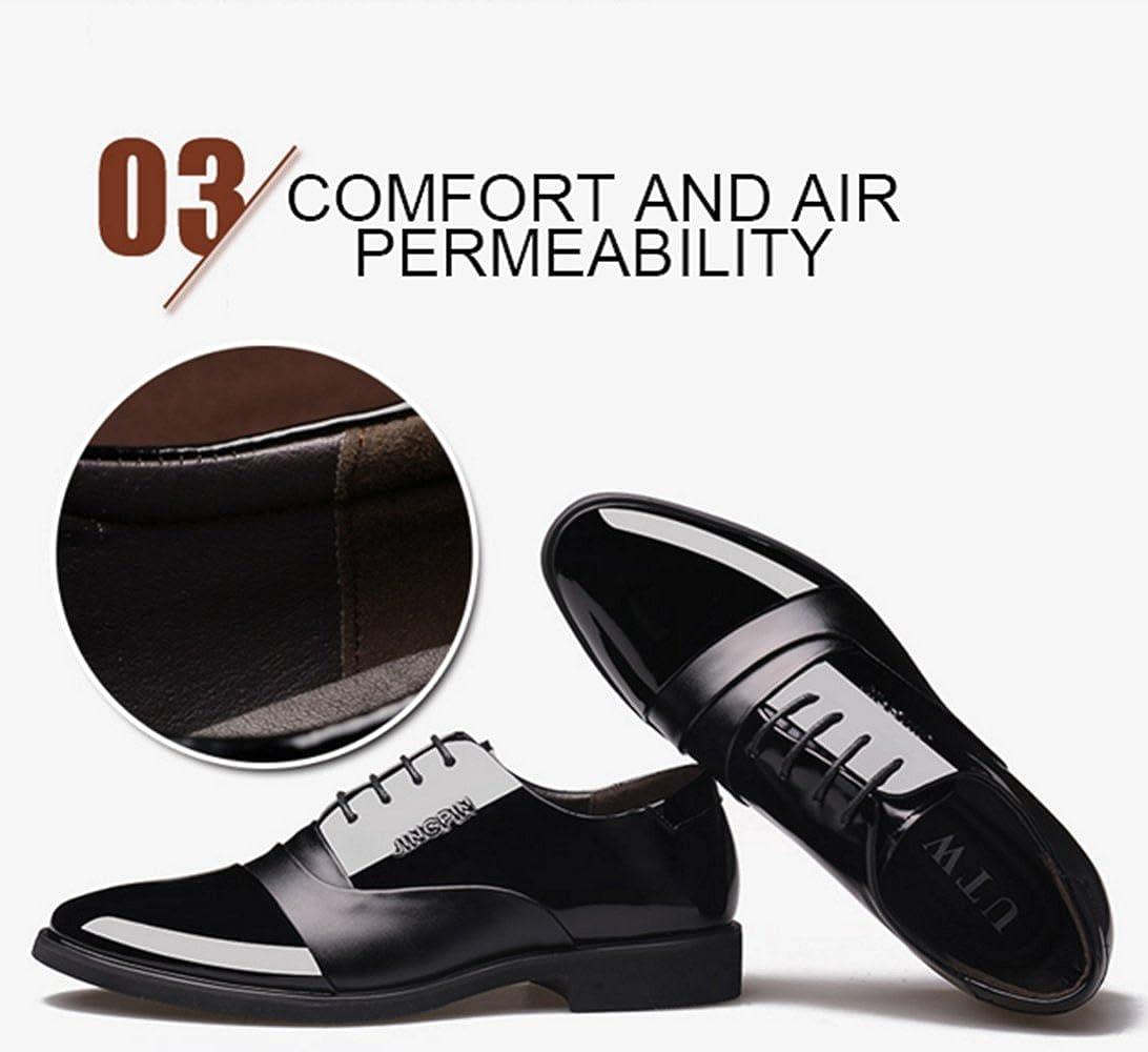 LINYI Herrenschuhe Business Künstliche PU Komfort Komfort Komfort Spitz Walking Office Karriere Atmungsaktiv Schwarz Braun 290260