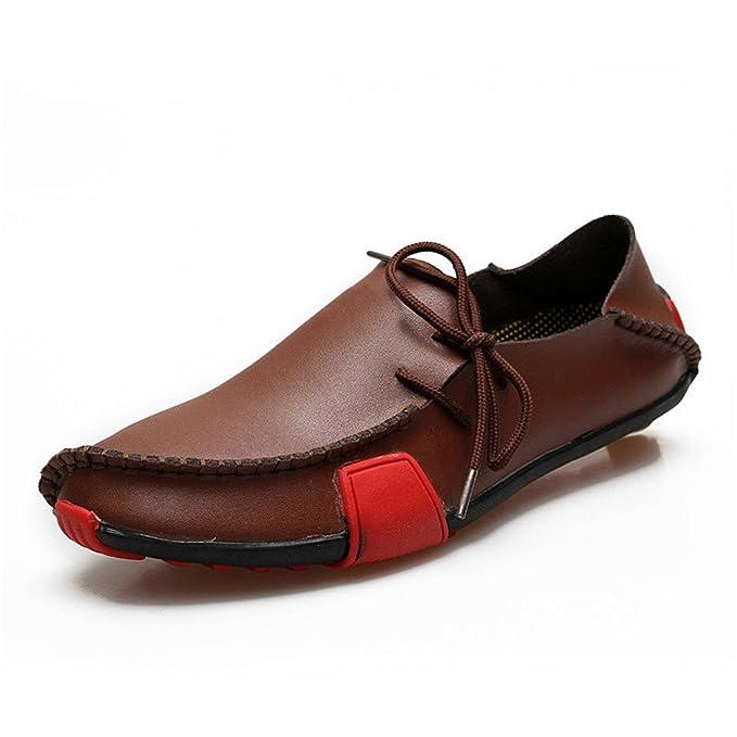 Bridfa Zapatos de cuero Hombres Mocasines Mocasines Zapatos de hombre Casual Slip On Mocasines Negro Hombre Mocassin Homme Sapato Masculino: Amazon.es: Ropa ...