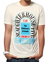 Out of Print Slaughterhouse Five Book Men's Vintage Inspired T-Shirt (X-Large)