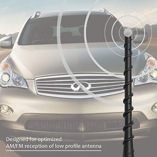 Designed for Optimized FM//AM Reception Flexible Rubber Car Wash Proof Replacement Antenna koobee 11 inch Antenna fits for Infiniti EX35 EX37 FX35 FX45 QX70 QX60 JX35 FX37