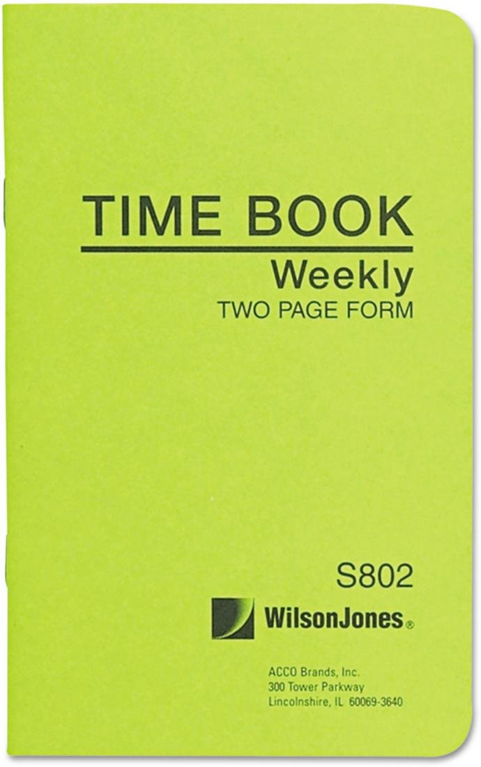 Wholesale CASE of 25 - Acco/Wilson Jones Foreman's Pocket Size Time Books-Time Book, Pocket Size, Weekly/2 Page, 6-3/4''x4-1/8'', White
