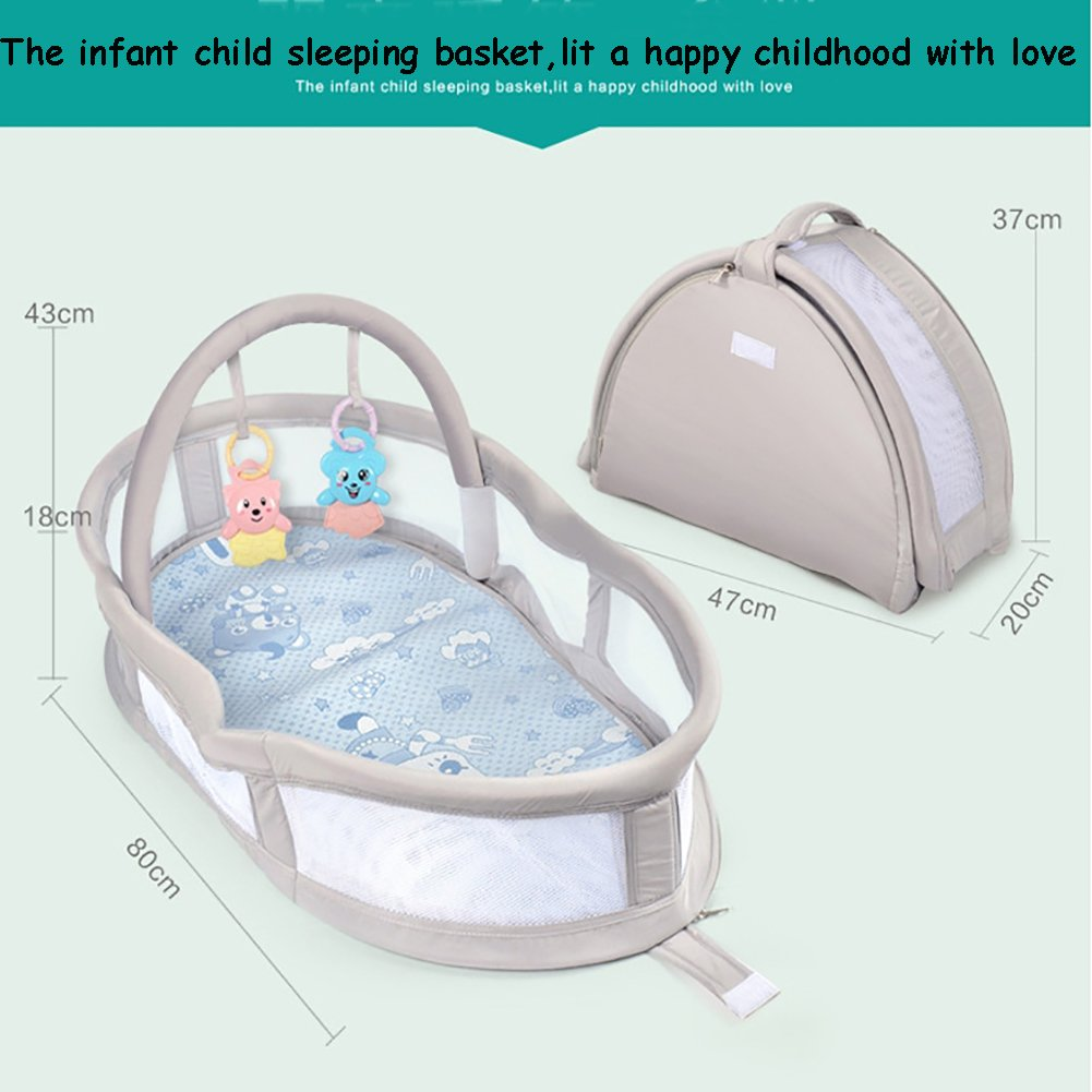 Amazon.com : YBDXMM Portable 100% Cotton Foldable Baby Bed ...