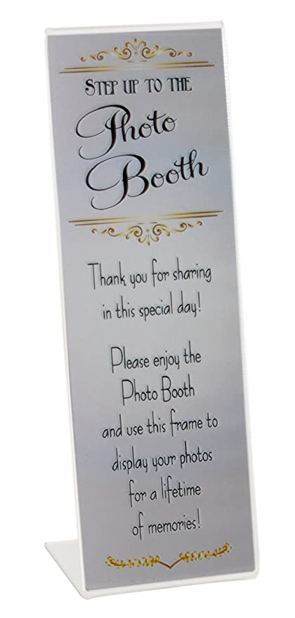 Amazon.com - Slanted Photo Booth Frames with Silver Inserts for 2x6 ...