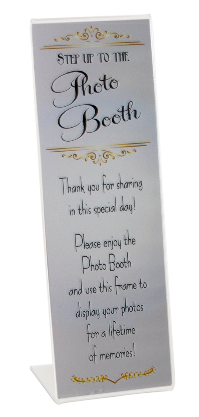 200 Slanted Photo Booth Frames with Silver Inserts for 2x6 Photo Strips