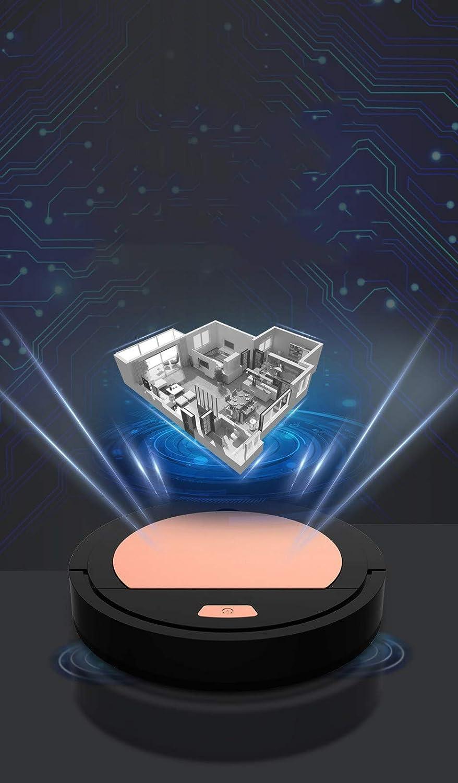 SSCEE Robot aspirateur Automatique - Batterie au Lithium 90 Minutes d\'autonomie - Robot Nettoyage Domestique Nettoyage Nettoyage Moquette et Nettoyage à Sec du parquet Black