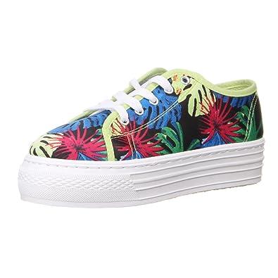 Damen Schuhe Freizeitschuhe Farbige Plateau Sneakers