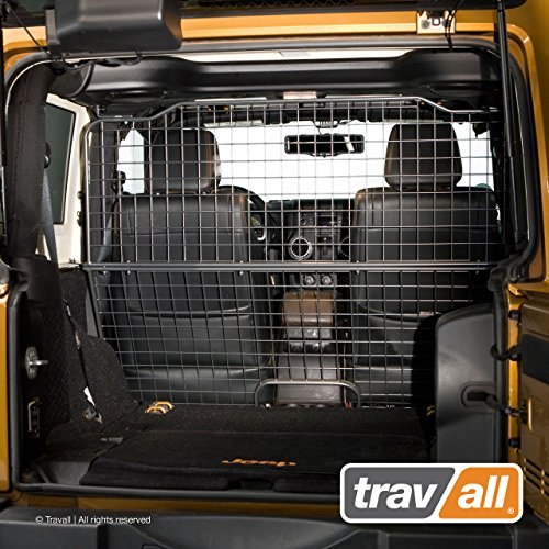 Travall Guard Compatible with Jeep Wrangler (2011-2018) TDG1373 - Rattle-Free Steel Pet Barrier (Steel Jeep Dog)