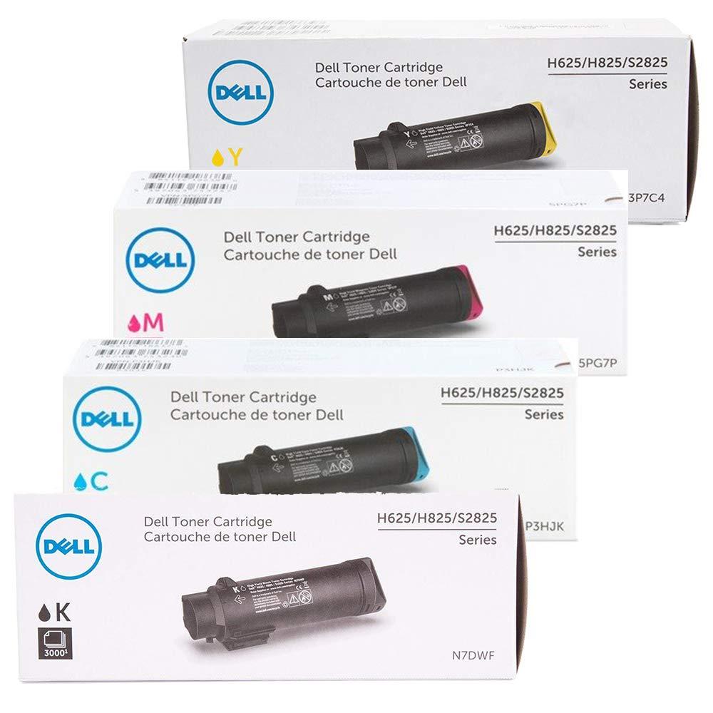 Toner Original DELL 4-Color Alta Capacidad Set para H625 H825 S2825 Laser