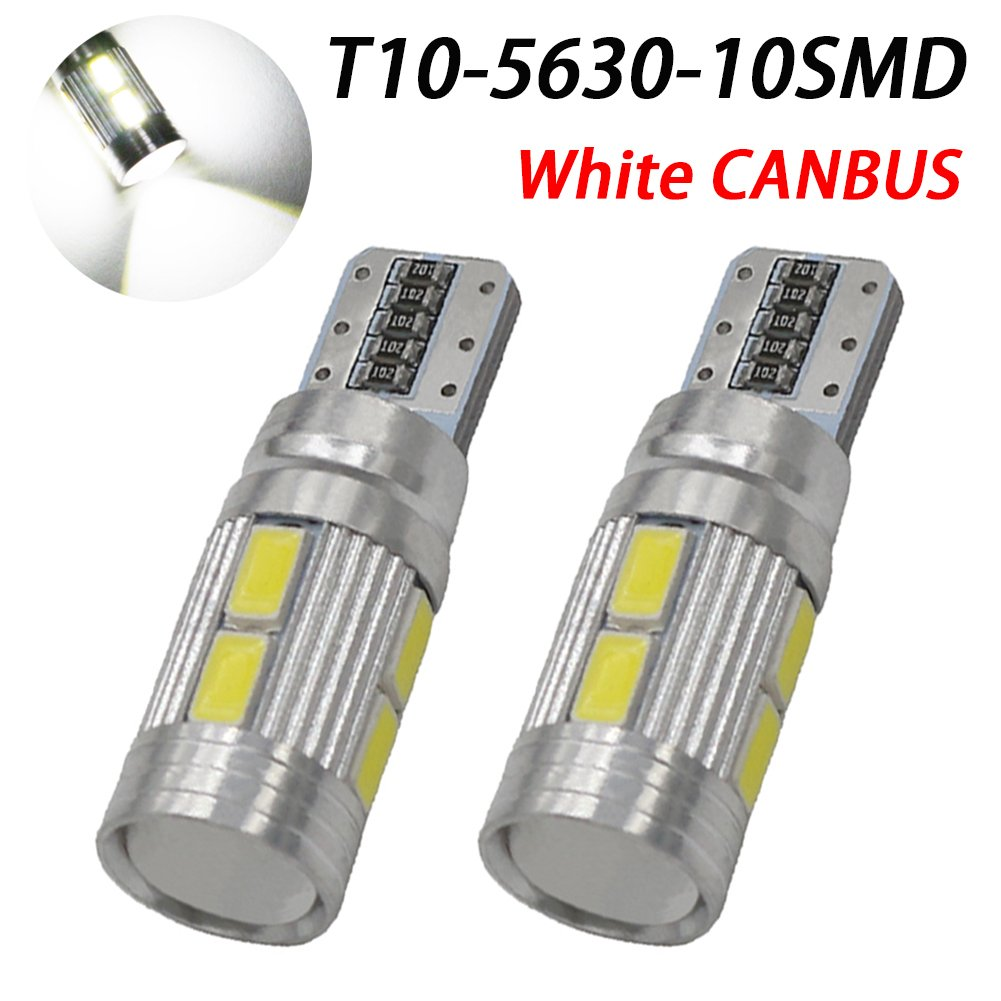 Pack of 2 CANBUS Error Free T10 LED Light Bulb Replacement and Reverse T10 Green Bulbs TABEN 7th Generation Newest Interior Lights for W5W 194 168 2825 T10 Wedge 10-SMD 5730