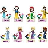 OliaDesign Fairy Tales Snow White/Mermaid/Jasmine Princess Minifigure Building Block Toys Compatible with LEGO