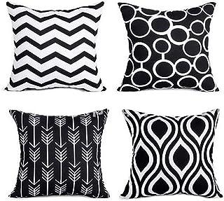 Haepe Fashion Geometric Pillow Case Sofa Car Waist Throw Cushion Cover Home Decor 4Pcs