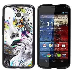 // PHONE CASE GIFT // Duro Estuche protector PC Cáscara Plástico Carcasa Funda Hard Protective Case for Motorola Moto X 1 1st GEN I / Cara Chica colorido /