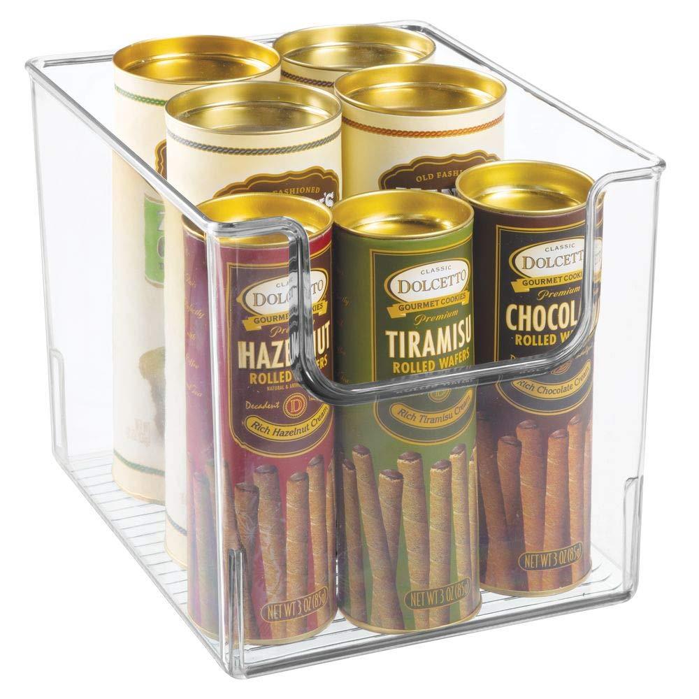 mDesign Caja de almacenamiento de alimentos - Organizador de ...