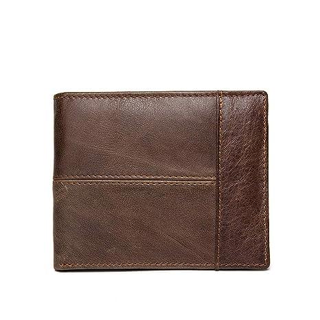 Billeteras de Hombre Piel Carteras y Monederos Cartera de Cuero Grand Slim Wallet Ranura de Tarjetas
