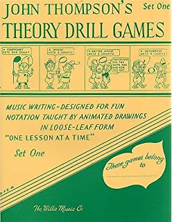 john thompsons theory drill games book one music writing designed for fun notation taught by animated drawings in loose leaf form one lesson at a time