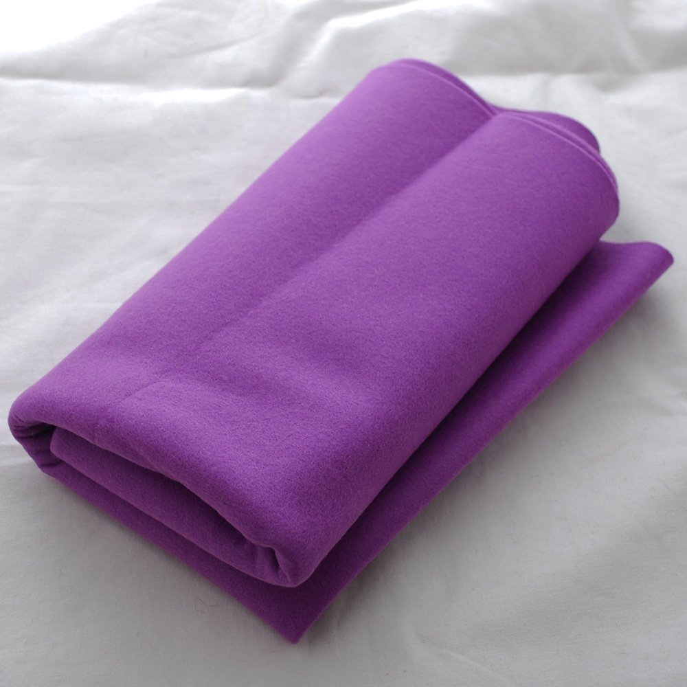 100% Pure Wool Felt Fabric - 1mm Thick - Ivory White - 40cm x 50cm Oriental Direct Ltd