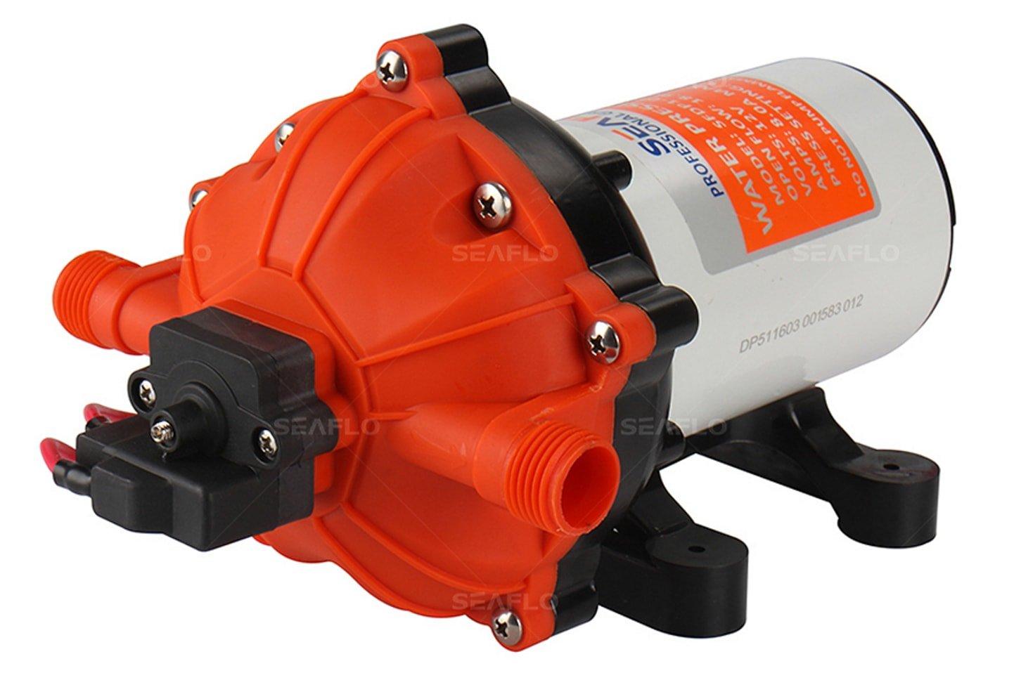 SEAFLO 12V 5.5 GPM 60 PSI Water Diaphragm Pressure Pump by SEAFLO