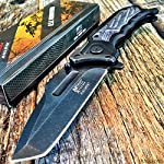 SPRING ASSISTED G`STORE OPEN Tactical Blade Folding POCKET KNIFE Wood Steampunk G 6