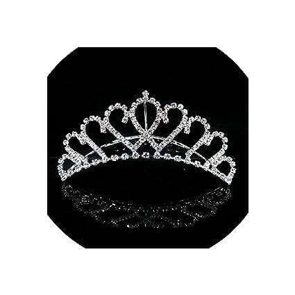 Crystal Tiara Luxur Rhinestone Full Silver Crown Bridal Wedding Headgear Party
