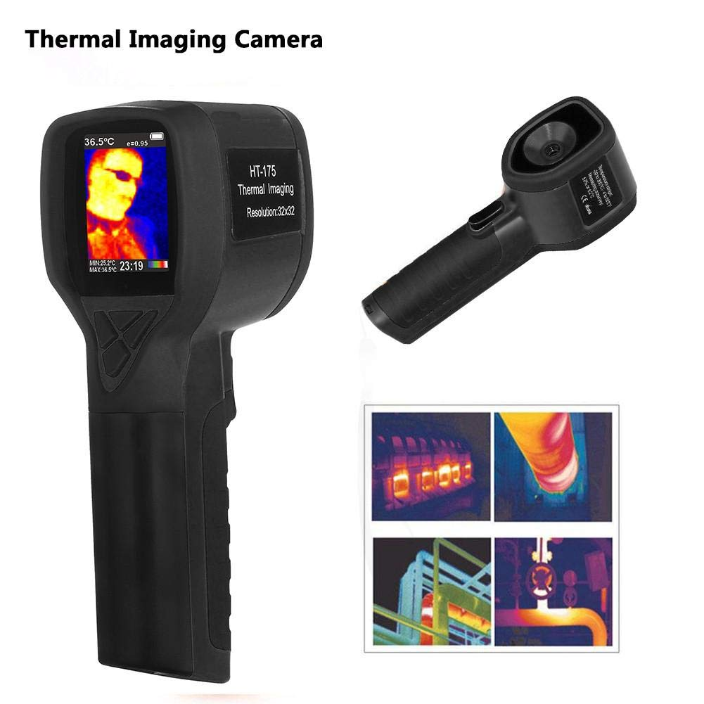 Handheld Infrared Thermal Imager 2.0 Color Screen Digital Thermal Camera Imager Imaging Camera IR Infrared Thermometer -20-300 Degree 32X32 Real-Time Thermal Imaging Functions