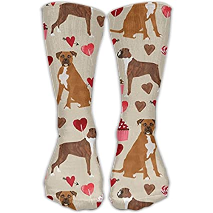 Cartton Pizzas Compression Socks For Women 3D Print Knee High Boot