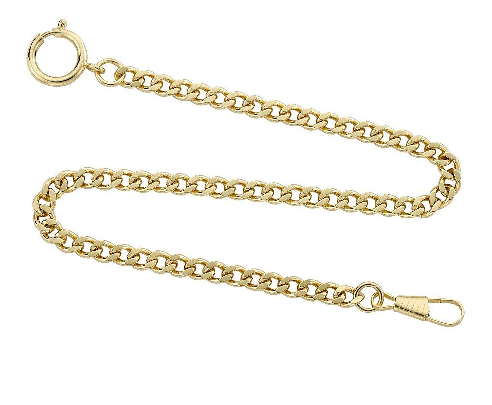 Gotham Gold-Tone Pocket Watch Chain Fob Curb Link 14'' # GWCGTLCHAIN